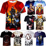 Games Borderlands 3 Full Print Unisex T-shirt Men's Soft Short Sleeve Tops Tee