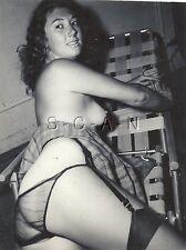 Vintage Original 1940s-60s Chair Rp- Très Long Cheveux- Jupe Panties- Garter-