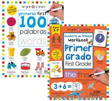 Wipe Clean First 100 Words primeras first 100 palabras & Primer Grado First 2pk