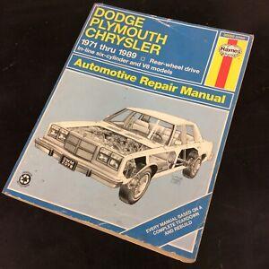 HAYNES DODGE DART CHALLENGER BARRACUDA 1971 AND UP SERVICE REPAIR SHOP MANUAL