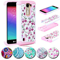 Shockproof Hybrid Rugged Rubber Hard Armor Protective Case Cover For LG Phone