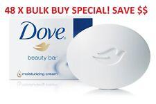 48 X DOVE SOAP BEAUTY CREAM BAR 100G MOISTURISING HAND FACE WASH SCRUB BULK BUY