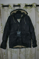 Abercrombie&Fitch A&F Men's 600 Down Puffer Jacket Brown Coat Hooded $220 NEW XL