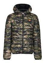 Mens Lightweight Quilted Jacket ELLESSE Lombardy Padded Hooded Jacket | Camo