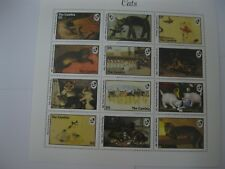 Gambia 1994 painting of cats sheet 1 I201806