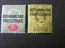 *BECHUANALAND PROTECTORATE, SCOTT # 71/72(2), 2p+3p. VALUES OVPT GB QV. MH