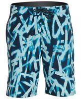 "NWT $58 NIKE SWIM Mens GLOW DIVERGE 9"" E-BOARD Shorts. Sz Small & Blue NESS9417"