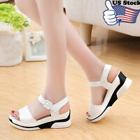 Women Summer Sandals Shoes Peep-toe Low Shoes Lady Roman Sandals Flip Flops new