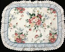 Waverly Belle Rive Standard Pillow Sham Eyelet Ruffle Roses Floral Cottage Chic