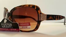 Foster Grant Dazzling Brown Gradient Lenses Sunglasses Shine 100% uv MSRP:$19