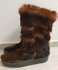NEU Yeti Stiefel Echtfell Fellstiefel 42 Pelz Fur Boots Vintage After Ski Unisex