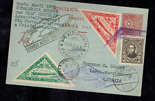1932 Paraguay Graf Zeppelin LZ 127 Postcard Cover to Herman Sieger Lorch Germany