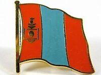 Mongolei Flaggen Pin Anstecker,1,5 cm,Neu mit Druckverschluss