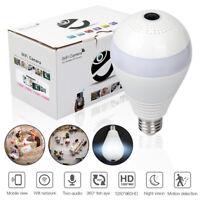 V380 360° Panoramic Wireless IP Light Bulb Camera Home Security Lamp Cam HD 1080
