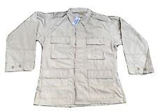 New Men's USGI Army BDU Shirt Coat Jacket 4 Pocket Khaki 50/50 Ripstop MedS
