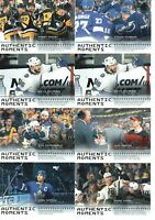 19/20 SP AUTHENTIC LOT OF 13 AUTHENTIC  MOMENTS HOCKEY CARDS HUGHES CROSBY