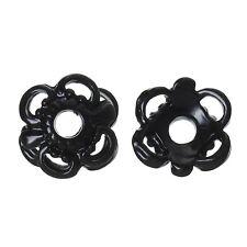10x perlas tapas perlkappen remates filigrana flores para 10 mm perlas metal