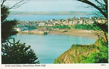 The Town & Caldey Island From North Cliff, TENBY, Pembrokeshire