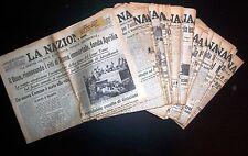 Quotidiano La Nazione - Periodo Fascista -  Lotto 58 Numeri Gennaio-Aprile 1936
