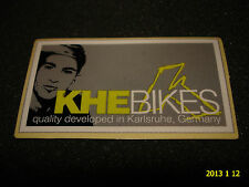 1 AUTHENTIC SMALL KHE BIKES QUALITY DEVELOPED IN GERMANY STICKER #6 DECAL