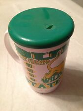 VINTAGE 1990 BURAS HIGH SCHOOL WILDCATS STATE CHAMPS MUG PLAQUEMINES PARISH LA.
