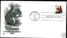 2489 Red Squirrel Self-adhesive ArtCraft FDC