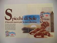 advertising Pubblicità 1987 MULINO BIANCO SPICCHI DI SOLE