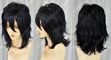 Death Note L Short Cosplay Black wig Wigs +free hairnet