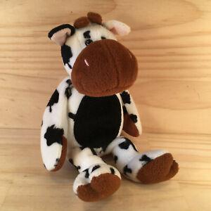 "TIPSY THE COW ""Black & White"" Gorgeous Cuddly Farm Animal Soft Toy Friend (TY)"