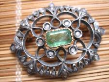Spilla Liberty con SMeraldo e Diamanti.Oro kt 18