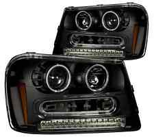 ANZO 111127 Set of 2 Black CCFL Halo Projector Headlights for 02-09 Trailblazer