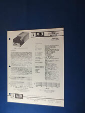 ALTEC 9476A MONITOR CUE AMP OPERATING MANUAL WITH SCHEMATIC ORIGINAL GOOD COND