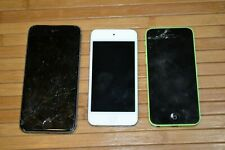 Lot of 3 Apple Devices Iphone 6s A1633 5c A1532 Ipod Touch A1421 AS IS Parts