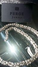 Königskette 925 Silber 8 mm 60cm Karabiner Halskette Kette Silberkette Massiv