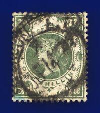 1887 Sg211 1s Grey Green K40(2) London Ec Good Used Cat £100 cjni