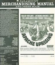 Apache Uprising (1965) Rory Calhoun, Corinne Calvet, John Russell  pressbook