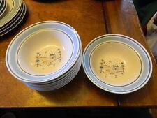 8  Primitif Museum Collection Stoneware soup bowls  6 3/4''