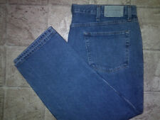 Mens REDHEAD RELAXED-FIT Blue Jeans Size 44x30 Slightly Tapered-Leg 9-Belt-Loops