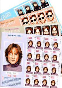 1995 Antigua & Barbuda 'Beatles John Lennon' Postage Stamps 4x Full Sheets  Mint