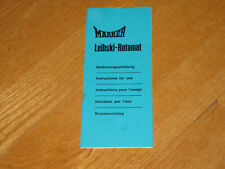 MARKER Leihski Rotamat Brochure Skiing  Downhill Cross Country Vintage