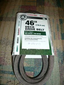 "GENUINE MTD 46"" Deck Drive Belt OEM 954-04122 / 754-04122 - MTD / Troy-Bilt"