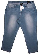 Lane Bryant Womens Capri Jeans 20 Skinny Distressed Stretch Crop Plus Blue New