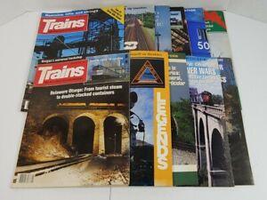 Trains The Magazine Of Railroading Lot Of 11 1988