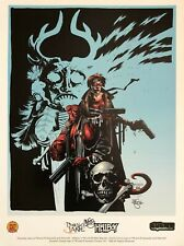 MIKE MIGNOLA Hellboy SIGNED print DYNAMIC FORCES 1998 18x24 PAINKILLER JANE!