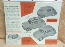 1950S FIAT SIXHUNDRED 600 & 600 MULTIPLA US DEALER SALES SPEC SHEET BK1H
