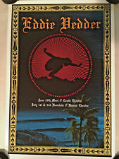 EDDIE VEDDER POSTER HAWAII 2009 RYAN IMMEGART VOLCOM MAUI HONOLULU PEARL JAM