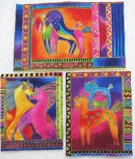 Dancing Horse Iron-on Applique  Fabric Blocks Laurel Burch Quilting Crafting
