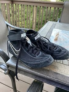 Nike Speedsweep Wrestling Shoes Youth Black White 366684-001 Size 6Y