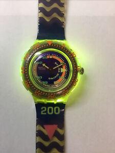 SWATCH SCUBA 200 'Coming Tide' SDJ 100 1992 Watch Box & CertificateRare