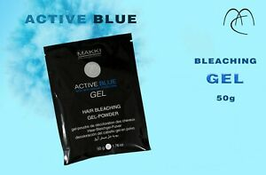 Dust Free Blue Bleaching Bleach GEL powder Hair Lightener 50g +Anti Yellow MAKKI